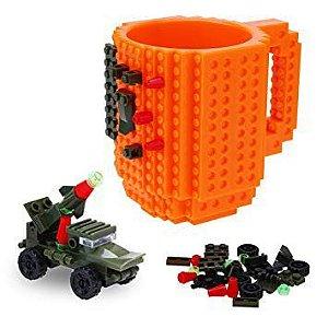 Caneca Bloco de Montar - Build on Brick Mug  - Laranja
