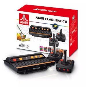 Videogame Atari FlashBack 8 c/ 105 Jogos e 2 Controles Joystick