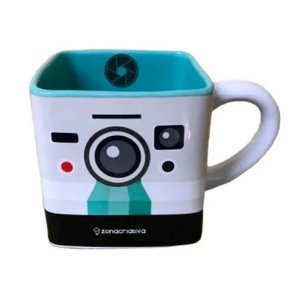 Caneca Quadrada 300ml Cubo Polaroid