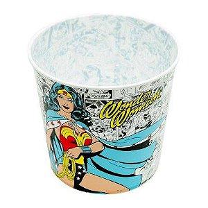 Pote Balde p/ Pipoca 5 Litros Quadrinhos Mulher Maravilha - DC Comics
