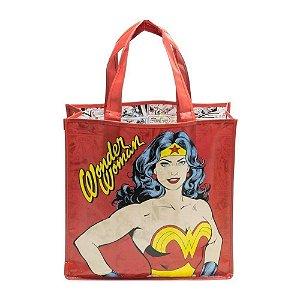 Sacola Plástica Ecobag Mulher Maravilha Body Vermelho - DC Comics