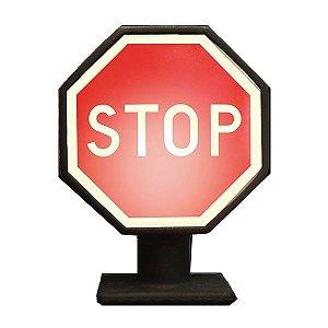 Luminária Placa de Trânsito STOP