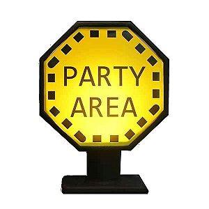 Luminária Placa Party Area - Festa!