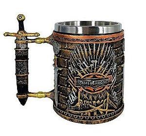 Caneca Resina e Aço Game of Thrones - Trono de Ferro