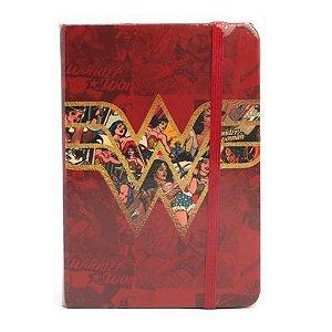 Caderneta de Anotações s/ pauta 100 fls Mulher Maravilha Logo Filme