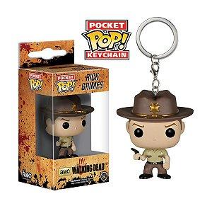 Chaveiro Pocket POP! Funko The Walking Dead - Rick Grimes