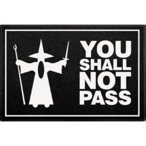 Capacho / Tapete PVC 60x40cm - You Shall Not Pass