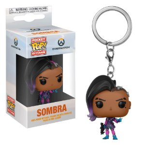 Chaveiro Pocket POP! Funko Overwatch - Sombra