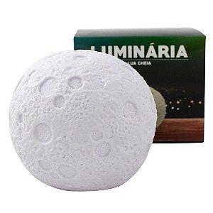 Luminária Led Formato Lua Cheia Multicor