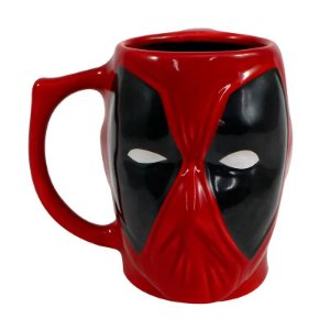 Caneca Porcelana 3D 400ml Marvel - Deadpool