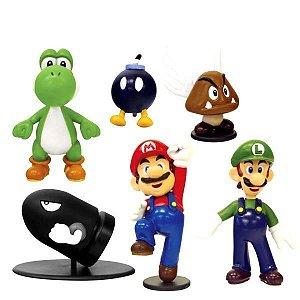 Coleção Mini Bonecos Super Mario Bros - Série 1
