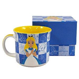 Caneca Tom 350ml Alice no País das Maravilhas - Disney