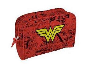 Necessaire Logo Mulher Maravilha / Wonder Woman - DC Comics