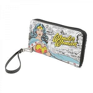 Carteira c/ Zíper Mulher Maravilha Wonder Woman