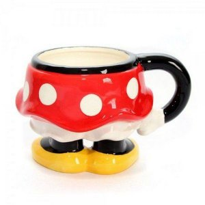 Caneca Porcelana 3D 350ml Corpo / Saia Minnie Mouse - Disney