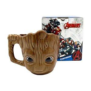 Caneca Porcelana 3D 400ml Marvel - Groot