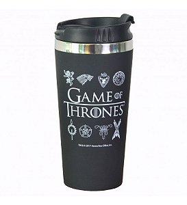Copo Térmico de Viagem Emborrachado 450ml Game of Thrones
