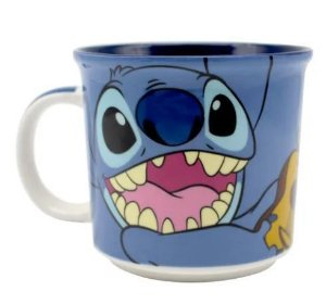 Caneca Tom 350ml Disney Stitch Azul