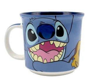 Caneca Tom 350ml Disney Stitch Azul