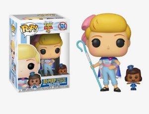 POP! Funko Disney: Toy Story 4 - Bo Peep com Officer Giggle McDimples # 524