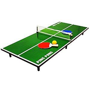 Mini Tênis de Mesa - Ping Pong 90x40cm