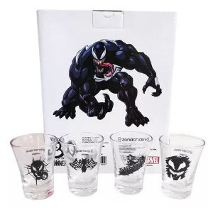 Kit Shot c/ 4 Copos 60ml Venom Marvel