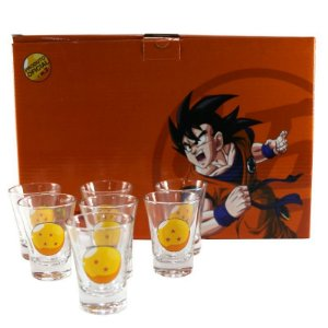 Kit Shot c/ 7 Copos 60ml Dragon Ball
