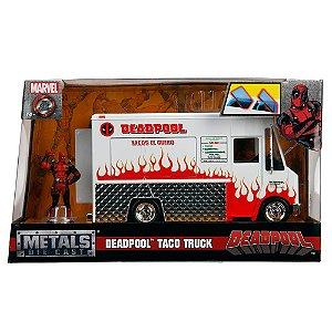 Carrinho Miniatura em Metal Foodtruck c/ Deadpool