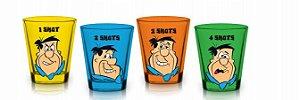 Conjunto c/ 4 Copos Shot 50ml Os Flintstones Fred