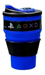 Copo Retrátil 400ml Logo Playstation