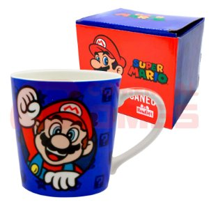 Caneca de Porcelana 400ml Super Mario
