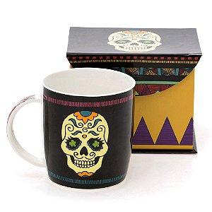 Caneca de Porcelana Caveira - Calavera Mexicana