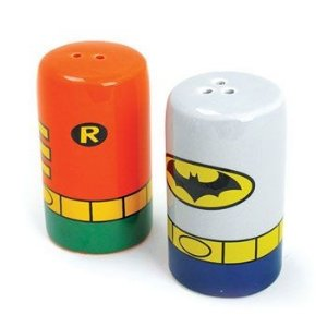 Saleiro e Pimenteiro Batman e Robin - DC Comics