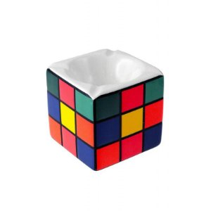 Cinzeiro de porcelana Cubo Mágico