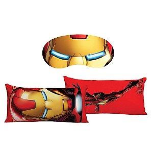 Kit Almofada + Máscara de Dormir Homem de Ferro - Marvel