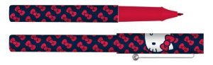 Caneta Esferográfica Hello Kitty Laços Vermelhos