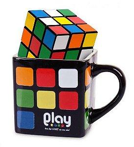 Caneca Quadrada Cubo Mágico Rubik´s