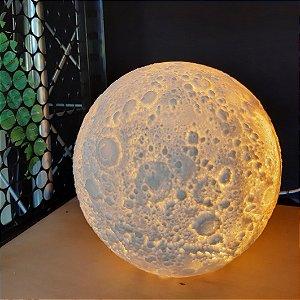 Luminaria Decorativa de Mesa Bivolt Lua Cheia