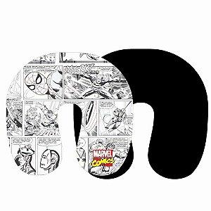 Almofada de Pescoço Micropérolas - HQ´s Marvel P&B
