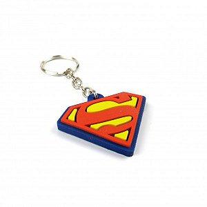 Chaveiro emborrachado Simbolo Superman