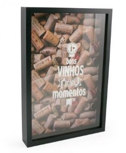 Quadro Vidro Porta Rolhas Vinho. Bons Vinhos Bons Momentos
