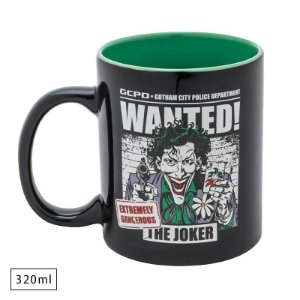 Caneca Porcelana 320ml Joker / Coringa Wanted - DC Comics
