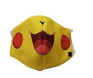 Máscara de Proteção em Tecido Reutilizável - Amarelinho P