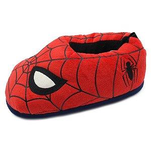 Pantufa Unissex Marvel Homem Aranha Spiderman - Tamanho M (36,37,38)