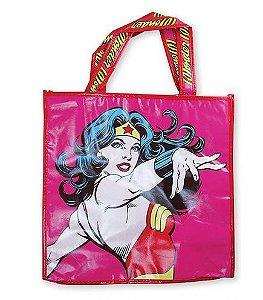 Sacola Plástica Ecobag Mulher Maravilha - DC Comics