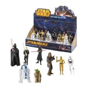 Display Chaveiros Colecionáveis Star Wars - 24 Personagens