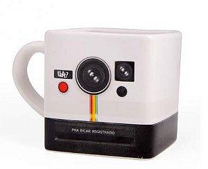 Caneca Quadrada Polaroid - Câmera Instantânea