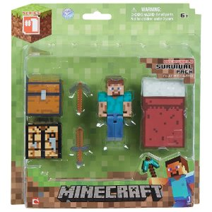Minecraft Survival Pack - Figura Steve e  Acessórios