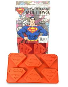 Forma para Cupcake / Mini Bolo Superman DC Comics