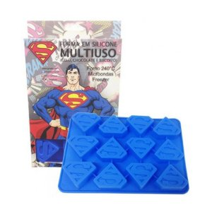 Forma para Gelo e Chocolate Superman Logo - DC Comics